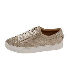 Pen studs Teen Cap Cup Sole Leather Casual Lace Up Schoenen Fashion Sneakers Dames