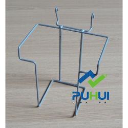Raccords de fabrication de pièces jointes Gridwall fer détenteur de poche crochet métallique (PHH106A)