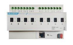 Knx/BEI Smart Home/Home contrôleur d'automatisation de l'actionneur de l'interrupteur 8 canaux avec la mesure du courant et Interface universelle
