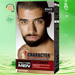 natürlicher schwarzer Pinsel des Zeichen-30ml Mann `S im Bart-Farben-Gel