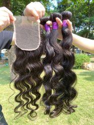 Jungfrau-Häutchen ausgerichtetes Haar, jungfrau-Haar-Verkäufer des Grad-10A unverarbeitete Großhandels, freies Beispielnerz-Brasilianer-Summen