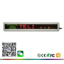 カスタマイズされたサイズ、言語モノラル赤い単一行スクローリングメッセージ、テキスト、画像、図形、アニメーション、記号LEDの単一カラー最上質の白いフレームの表示