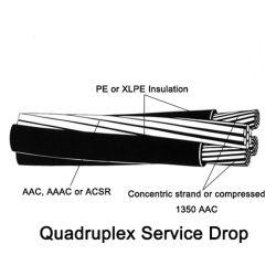 0.6/1 Kv 2X4 AWG Fio Elétrico ASTM XLPE CABO ABC
