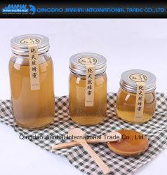 Contenedor de Cristal redondo para la Alimentación, la miel, los Encurtidos