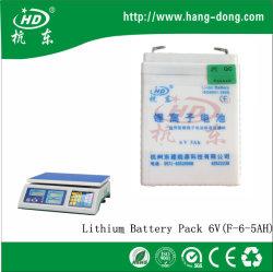 6V 5ah lithium-ion lithiumbatterij met verpakking