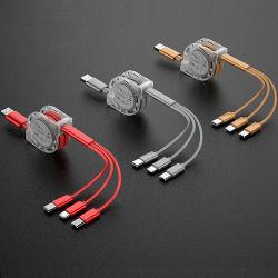 Venta caliente 2.1A telescópica 3 en 1 cable micro USB cargador de accesorios para teléfonos móviles//accesorios de teléfonos móviles accesorios para teléfonos celulares