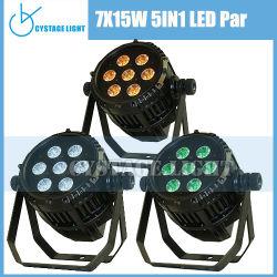 Professional 7*15 5en1 Mini LED DMX par la luz de la etapa puede