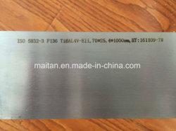 医学的用途のためのISO 5832-3 F136 Ti6al4V-Eliのチタニウムの角形材