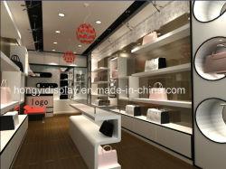 La moda bolso pantalla tienda de muebles, aparador de madera, la Bolsa de escaparate para mostrar
