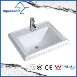 Salle de Bain lavabo en céramique ci-dessus du bassin du compteur (ACB0050)