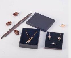 Coffret à bijoux portable Papier Art bon marché de gros carton coffret à bijoux noir