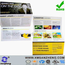 Colorful Custom Clear Single Name Concertina Fold Color Products Leaflet