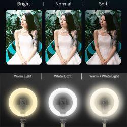 L07 Selfie Bluetooth Stick multifuncional de telefone móvel de transmissão ao vivo da Luz de enchimento do anel do LED suporte integrado a um tripé