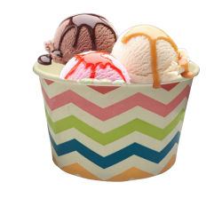 Tazze per gelato monouso personalizzate stampate una volta usate