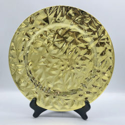 Cargador de oro y plata de la boda la decoración de las placas de la placa de cargador