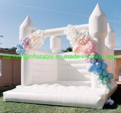 2021 новейший открытый надувные свадьбы Bouncer Белый дом возврата упругие замок прыжком замок