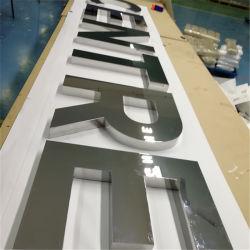 レーザ溶接の広告オフィスのレセプションのためのブラシをかけられた金属の経路識別文字