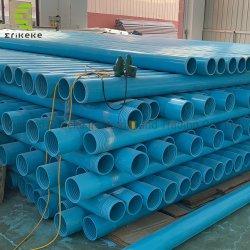 Estremità campata personalizzata di colore blu con tubo dell'acqua in PVC filettato