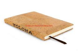 개인화된 A5 크기 Filofax 일기 책 코르크 덮개 전표 책