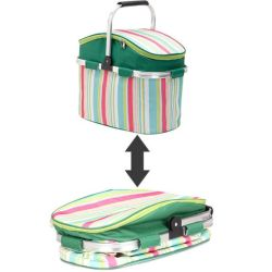 Изолированный корзины для пикника охладителя женская сумка для пикника на открытом воздухе