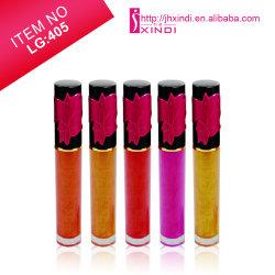 (LG405) Cosmética profesional Liquid Lipstick Moisturzing Lip Gloss con tapa negra brillante
