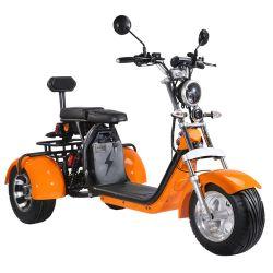 CoC 인증 전기에서는 2000W 더블 시트 3륜 전기 사용 스쿠터 성인(성인