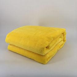 Estilo de la galleta de color sólido sofá camas lanza una manta tejida