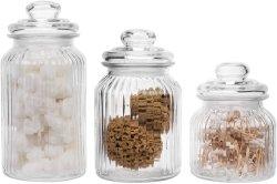 Frascos de vidro para frascos com tampas estanques para Kichenware