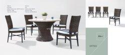 Artesia Rattan al aire libre mesa de comedor y sillas de comedor/al aire libre (mobiliario de jardín)