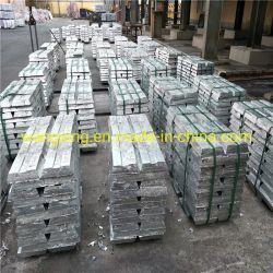Le métal pur raffiné de haute pureté de 99,99 % /99,995 % de zinc lingot/lingot en alliage de zinc