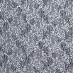 白い花の水溶性の化学ミルクのファイバーによって刺繍されるギピールレースのレースファブリック
