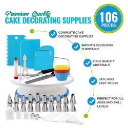 Gâteau d'outils Outils de cuisson de la platine de la pâtisserie Cake Decorating définie avec sac de pâtisserie