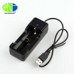 Ce/RoHS LED Linterna portátil cargador USB de 5V 18.650 Cargador de batería para 18650/26650/14500/16340