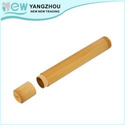 Aprovação da FDA Travel usado o logotipo aduaneira gravado 100% livre de BPA biodegradáveis Eco-Friendly tubo de bambu