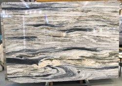 Schöner natürlicher Granit/Quartztie Platten Mehrfarben/blauer/weißer Ozean-Sturm-Marmor für Eitelkeitcountertop-Wand-Fußbodenbelag-