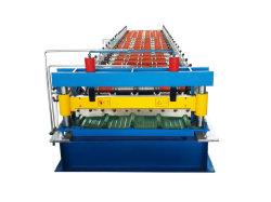 컬러 강철 패널 금속 시트 IBR 사다리꼴 루프 타일 제작 롤 성형 기계