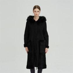 Longo Inverno Novo Nick Garment 100% lã casaco quente para as mulheres
