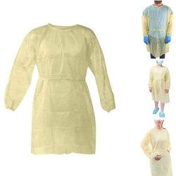 La non- stérile à usage unique combinaison de protection étanche robe d'isolement Antimicrobial PP PE SMS non-tissé enduit renforcée de l'habillement des combinaisons de travail avec le capot et des bottes