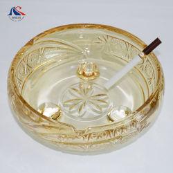 Banhado a Ouro personalizado com o pé de cinzeiro de charutos de vidro