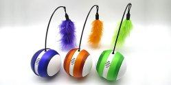 새 소리와 LED 빛을%s 가진 회전 공이치기용수철 고양이 장난감