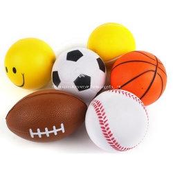 Listos para enviar el logotipo de la bola de estrés de espumas de poliuretano espuma personalizados Anti Estrés juguete Bola con muestras de stock