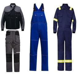 Workwear uniforme di forza del cotone del lavoro su ordinazione poco costoso il poli ciao copre l'alto rivestimento dei lavori di costruzione di visibilità
