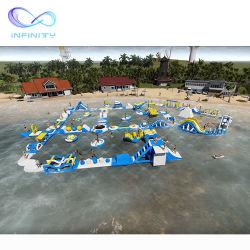 Parc aquatique flottant et gonflable terrain de jeu Inflatable Parc aquatique commercial Parc d'attractions aquatique gonflable