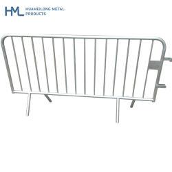 Temporärer Fußgänger tragbarer, beweglicher Zaun aus Metall Zum Verkauf