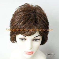 أنماط الموضة الشعر الكامل البشرية الصناعية الشعر المختلطة ويغ للنساء