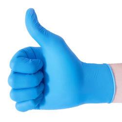 Custom barato sem pó azul Exame de nitrilo descartáveis caixa de luvas de fabricantes de preços China