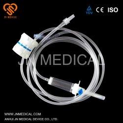 Hospital de médicos desechables instrumento infusión intravenosa con el tubo de extensión y regulador de la precisión del sitio