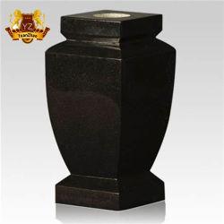 صنع وفقا لطلب الزّبون أسود صوان نصب أصيص إناء زهر لأنّ مقبرة نصب تذكاريّ