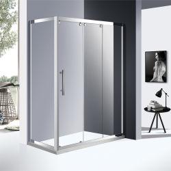 Doccia scorrevole economica ad intelaiatura d'acciaio inossidabile della stanza da bagno 304 con il portello di vetro della radura di 8mm nel colore del bicromato di potassio