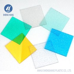 Goutte de pluie en plastique de surface feuille Gaufré en polycarbonate